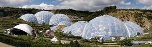 Landscape and Internal Structure of Eden Project Cornwall UK