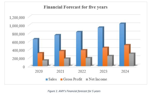 AMY's Financial forecast for 5 years